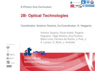 2B- Optical Technologies