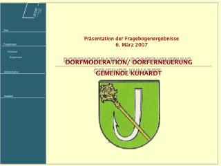 DORFMODERATION/ DORFERNEUERUNG