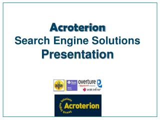 Acroterion Search Engine Solutions Presentation