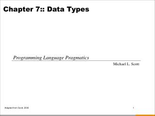 Chapter  7:: Data Types