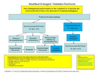 Akuttilbud til borgere i Holstebro Kommune