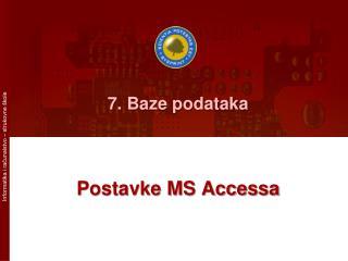 7. Baze podataka