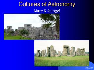 Cultures of Astronomy