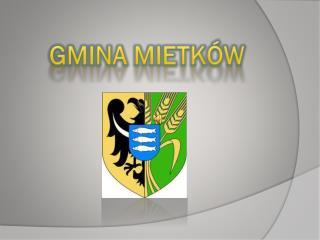GMINA MIETKÓW