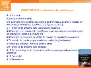 CAPÍTULO 5 - Intervalo de confiança