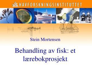 Stein Mortensen Behandling av fisk: et lærebokprosjekt