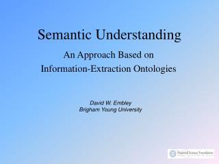 Semantic Understanding