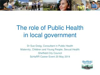 The role of Public Health  in local government