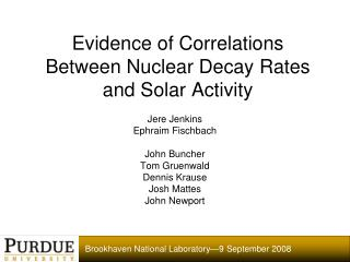Evidence of Correlations Between Nuclear Decay Rates and Solar Activity