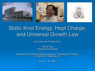Static Knot Energy, Hopf Charge, and Universal Growth Law
