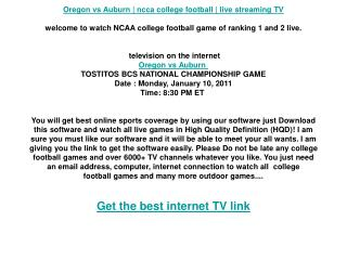 Oregon vs Auburn | ncca college football | live streaming TV