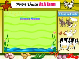 PEP4 Unit6 At A Farm