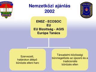 Nemzetközi ajánlás 2002
