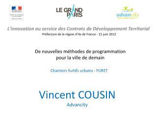 L'innovation au service des Contrats de Développement Territorial