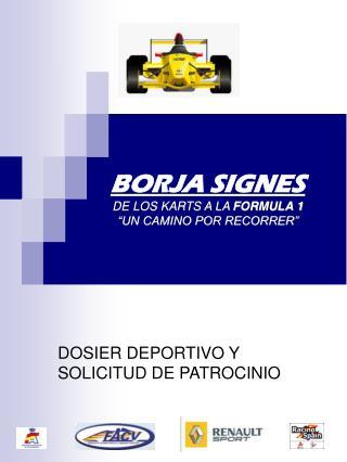 """BORJA SIGNES DE LOS KARTS A LA  FORMULA 1 """"UN CAMINO POR RECORRER"""""""