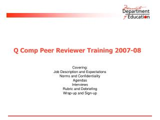 Q Comp Peer Reviewer Training 2007-08