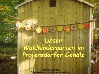 Unser  Waldkindergarten im Projensdorfer Geh lz