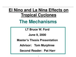 El Nino and La Nina Effects on Tropical Cyclones