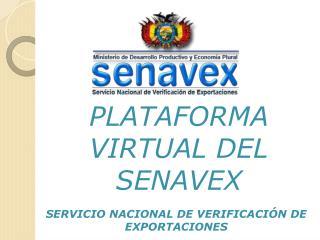 SERVICIO NACIONAL DE VERIFICACIÓN DE EXPORTACIONES
