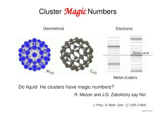 Cluster  Magic  Numbers