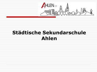 St dtische Sekundarschule Ahlen