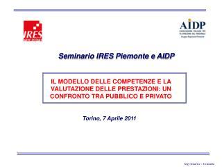 Seminario IRES Piemonte e AIDP