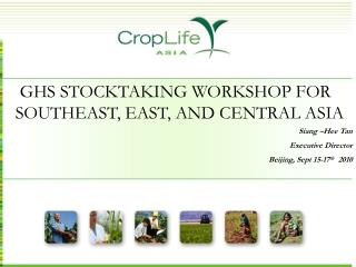 GHS STOCKTAKING WORKSHOP FOR SOUTHEAST, EAST, AND CENTRAL ASIA