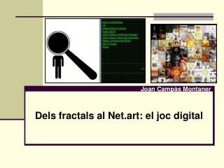Dels fractals al Net.art: el joc digital