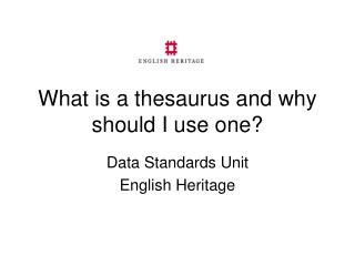 What is a thesaurus and why should I use one?