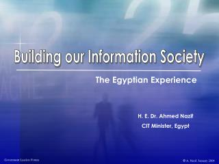 Building our Information Society