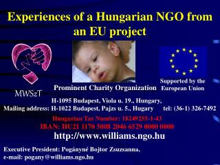Experiences  of a Hungarian NGO  from an EU project