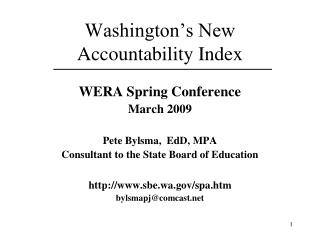 Washington's New Accountability Index