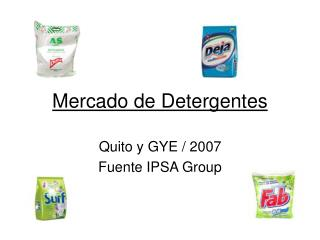 Mercado de Detergentes