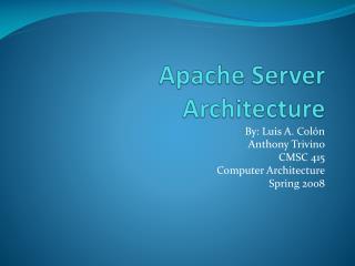 Apache Server Architecture