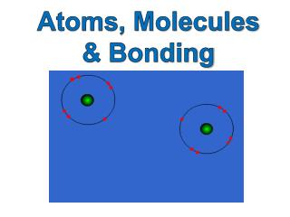 Atoms, Molecules & Bonding