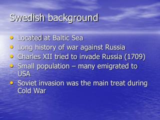 Swedish  background