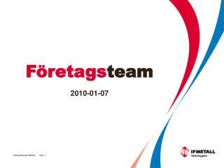 Företags team 2010-01-07