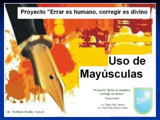 USO DE MAYÚSCULAS