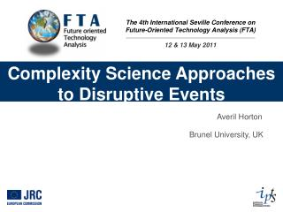 Complexity Science Approaches to Disruptive Events
