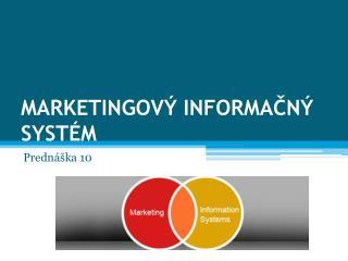 Marketingový informačný  systém