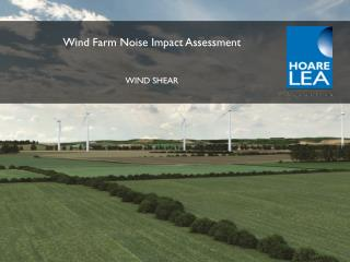 Wind Farm Noise Impact Assessment WIND SHEAR