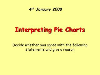 4 th  January 2008