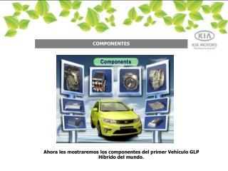 Ahora les mostraremos los componentes del primer Vehículo GLP Híbrido del mundo.