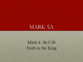 Mark 5a