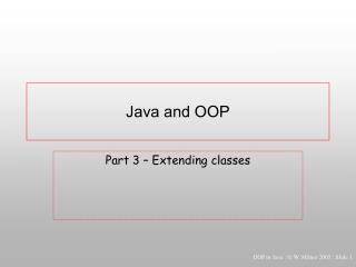 Java and OOP