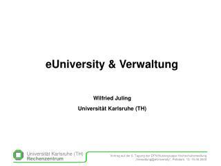 eUniversity & Verwaltung
