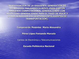 Campoverde  Pesántez   Maria  Alexandra Pérez López Fernando Marcelo