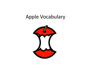 Apple Vocabulary