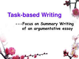 Task-based Writing
