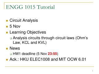 ENGG 1015 Tutorial